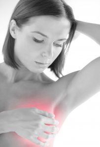 Checking breast for symptoms associated with BIA-ALCL