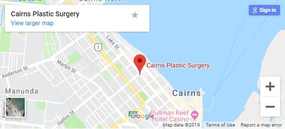 Cairns Plastic Surgery Google map